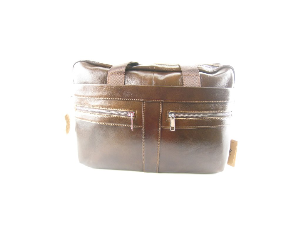 Pánská kožená taška F8 1315 (Barva hnědá)
