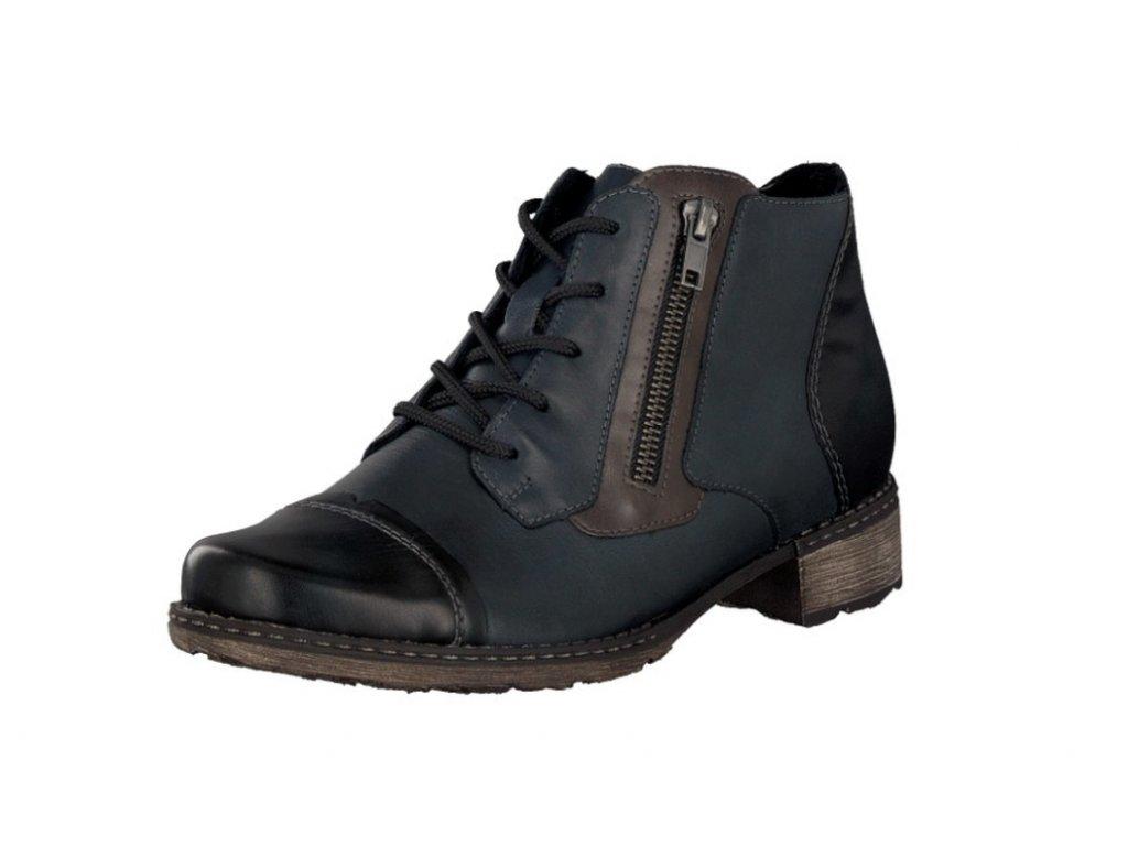 Dámské boty Rieker D4378-14 (Barva Modrá, Velikost 40)