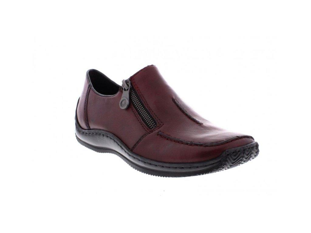 Dámské boty Rieker L1780-35 (Barva červená, Velikost 40)