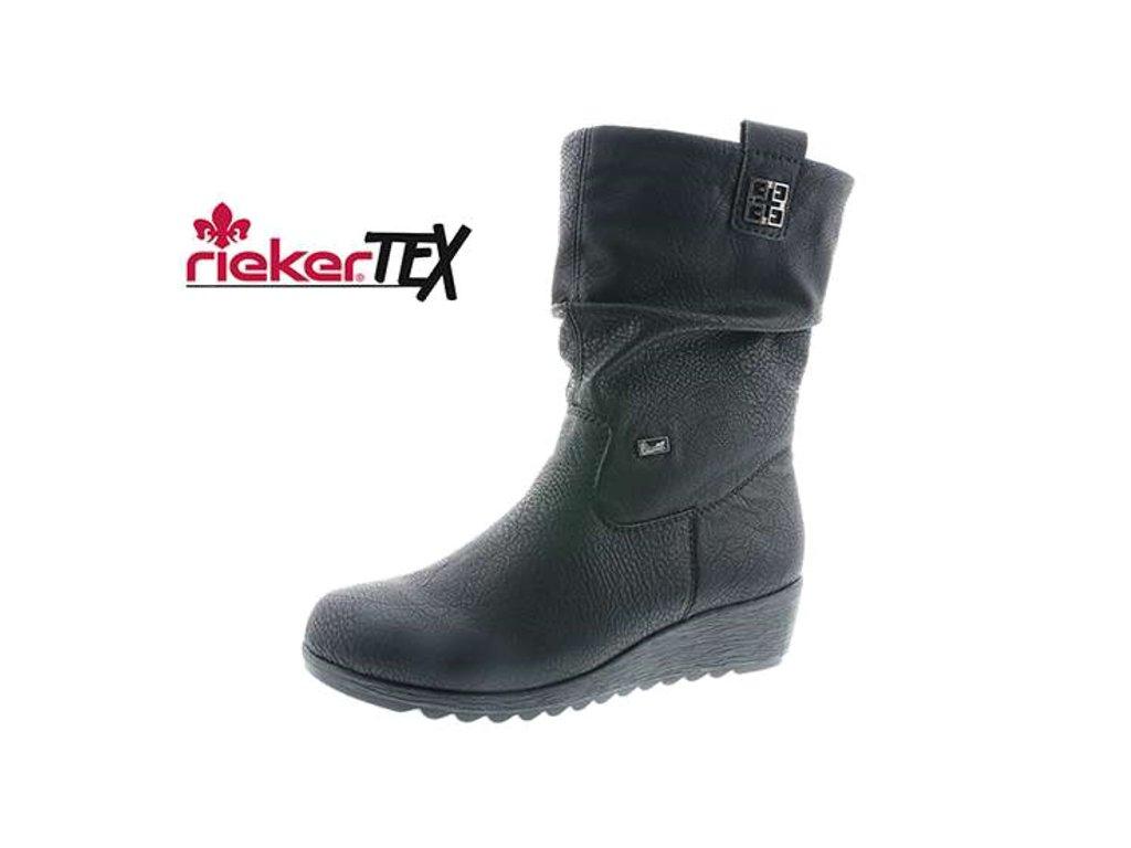 Dámské kozačky Rieker X2483-00 (Barva černá, Velikost 42)