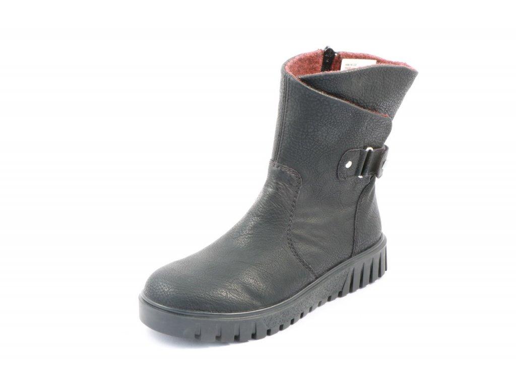 Dámské boty Rieker Y3478-00 AKCE (Barva černá, Velikost 42)