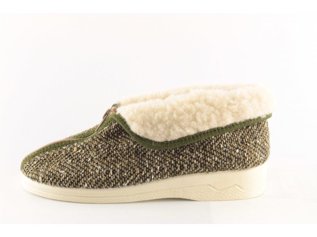 Dámská domácí obuv Adanex 21055 (Barva Zelená, Velikost 41)