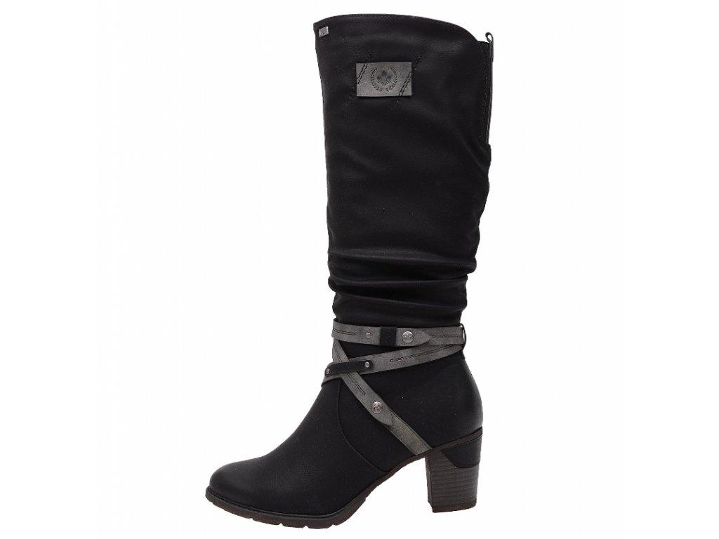 Dámské kozačky Rieker 96054-00 (Barva černá, Velikost 40)