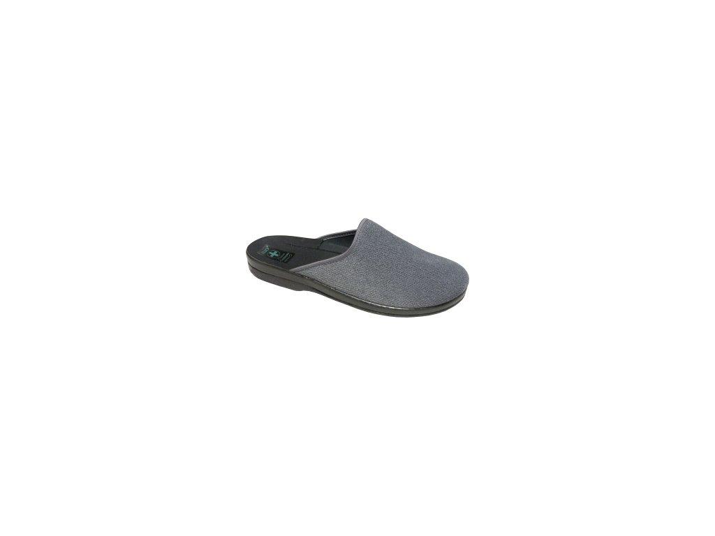 Pánské pantofle Adanex 23546 (Barva šedá, Velikost 42)