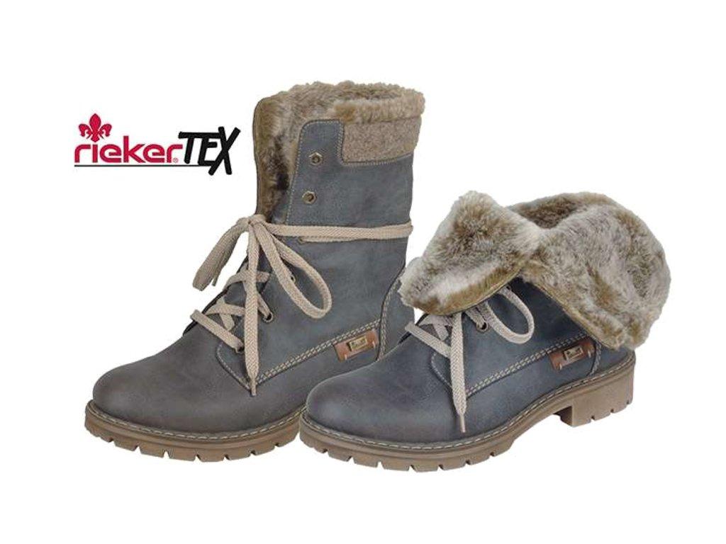 Dámské boty Rieker Y9122-45 (Barva Modrá, Velikost 37)