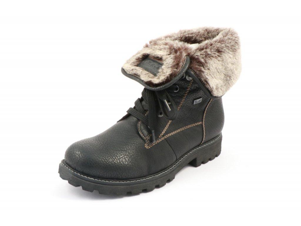 Dámské boty Rieker Z1418-00 (Barva černá, Velikost 42)