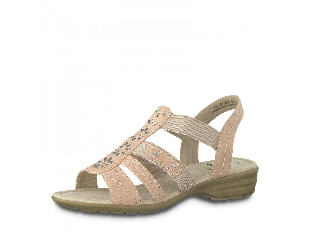 Dámské sandály Jana 8-28163/22 (Barva růžová, Velikost 38)