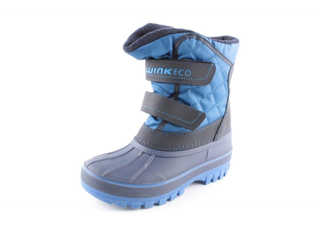 Dětská zimní obuv BR82177-3-2W (Barva Modrá, Velikost 34)