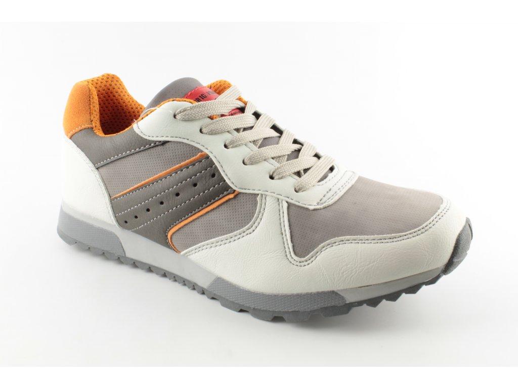 Pánská sportovní obuv 370254 AKCE - výprodej (Barva šedá, Velikost 44)