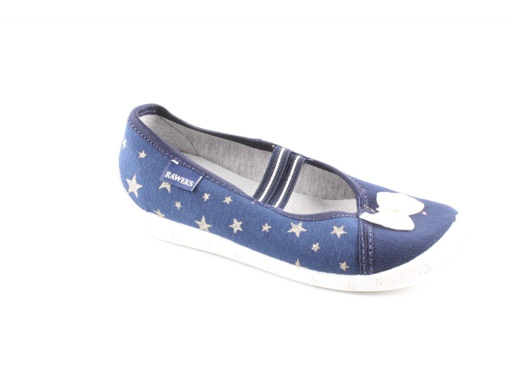 Dětská domácí obuv SylwiaS23 (Barva Modrá, Velikost 35)