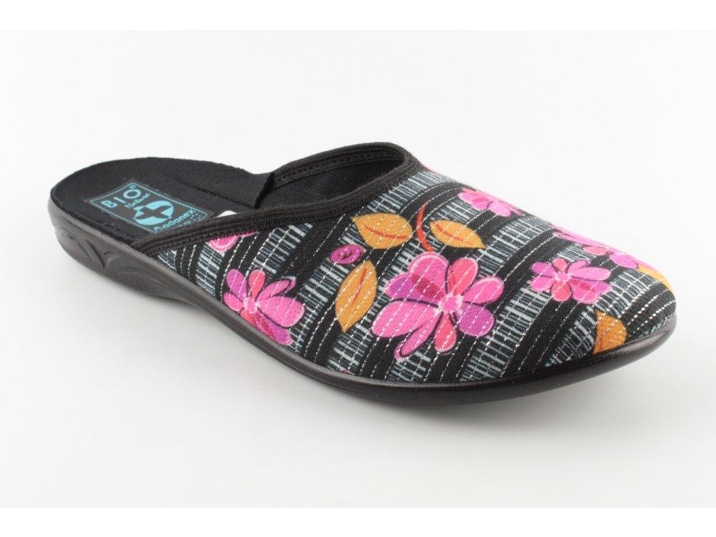 Dámská domácí obuv ADANEX 23859 (Barva kytička, Velikost 40)
