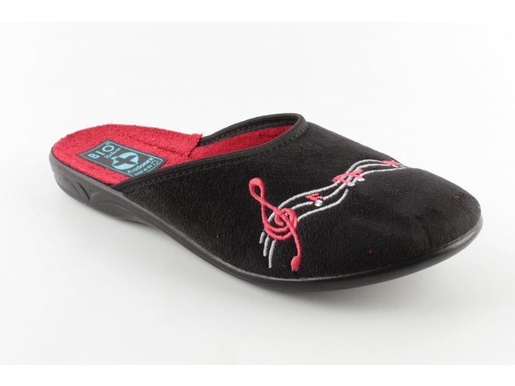 Dámská domácí obuv ADANEX 23953 (Barva černá, Velikost 38)
