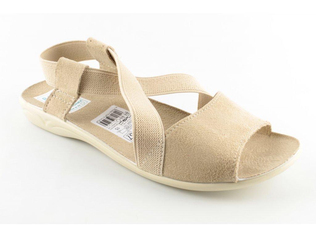 Dámská domácí obuv ADANEX 17495 (Barva hnědá, Velikost 41)