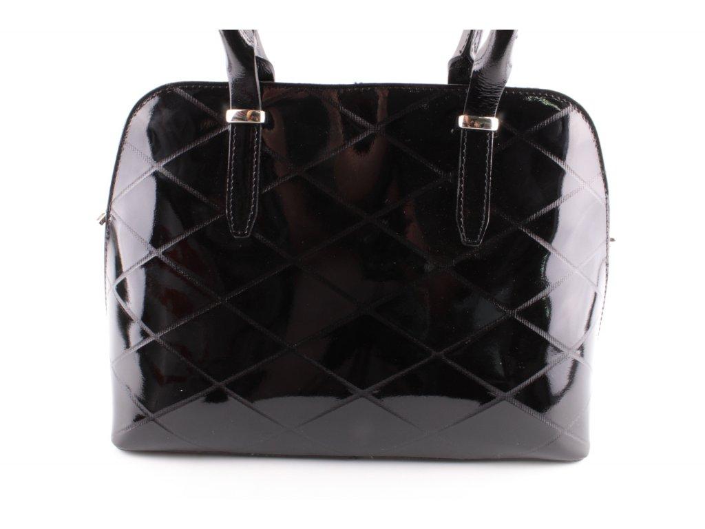 Dámská kožená kabelka F8 K301 PELL (Barva černá)