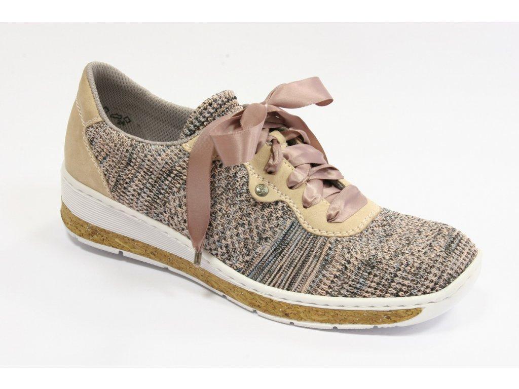 Dámská obuv Rieker 597P4-90 (Barva béžová, Velikost 42)