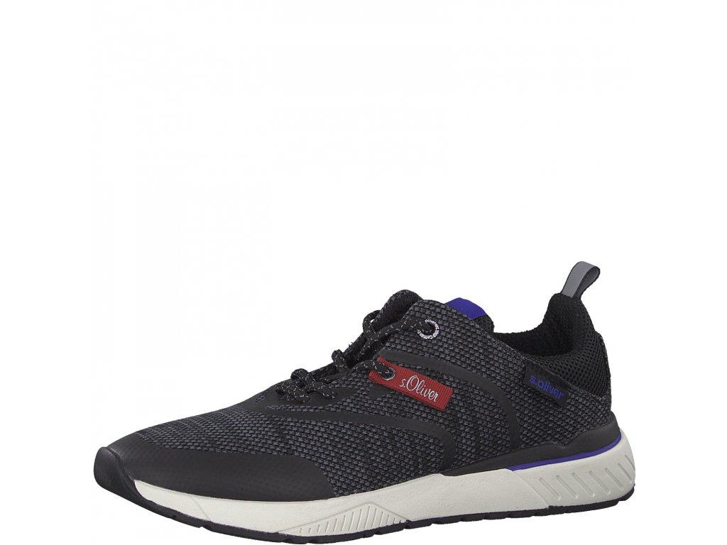 Pánské boty s. Oliver 5-13607/22 (Barva černá, Velikost 46)