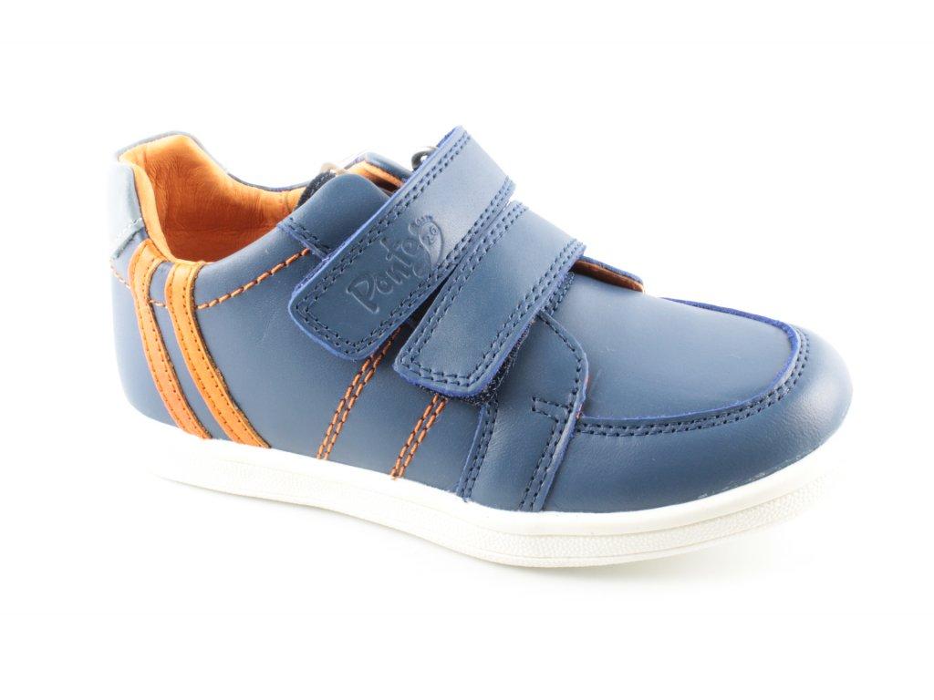 Dětská kožená obuv PP219-DA06-654A AKCE