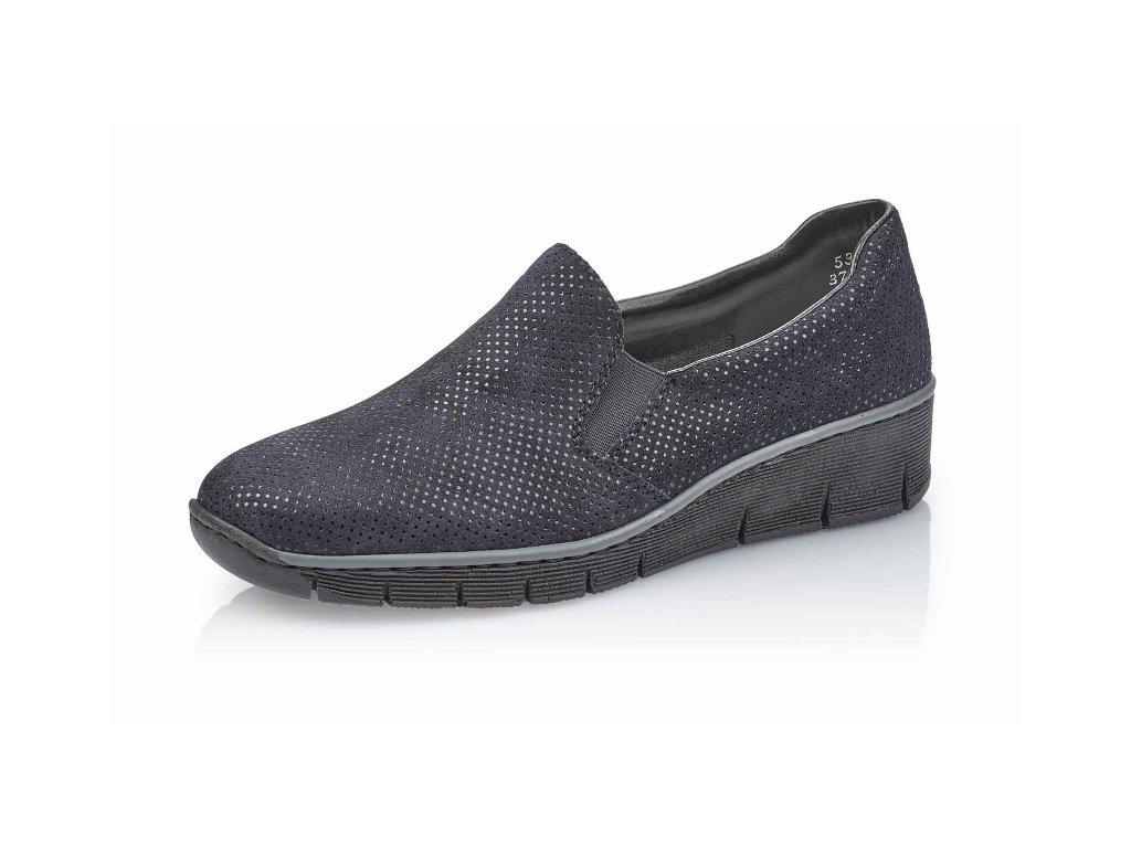 Dámské obuv Rieker 53766-18 (Barva Modrá, Velikost 41)