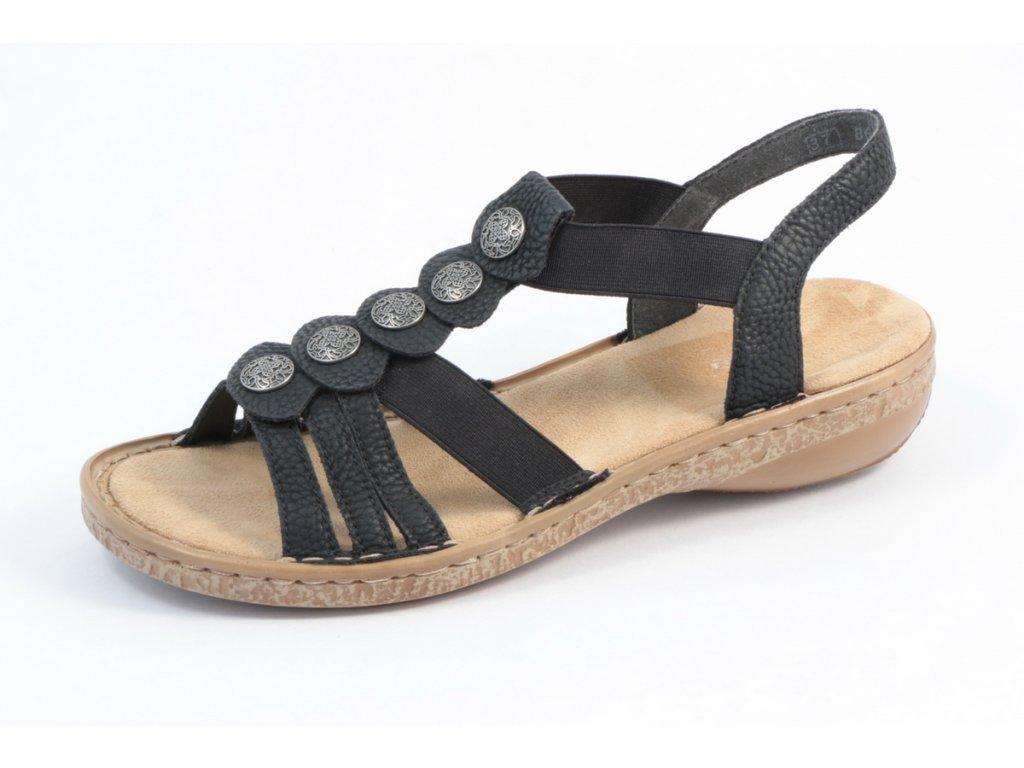 Dámská obuv Rieker 62866-00 (Barva černá, Velikost 40)