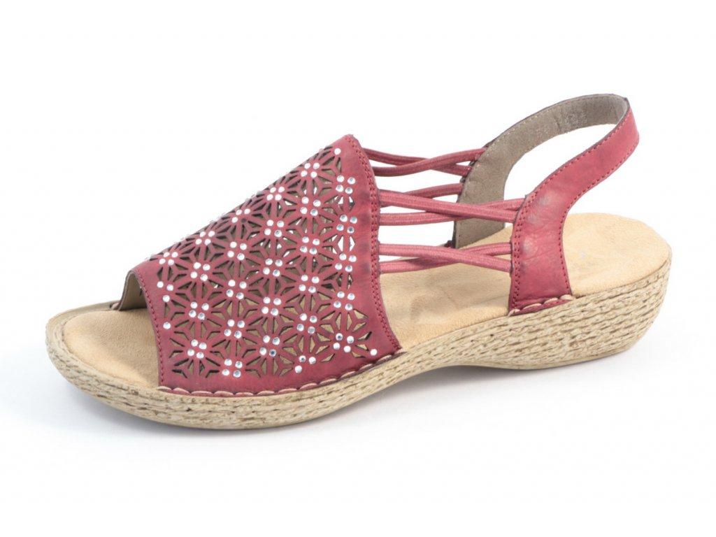 Dámská obuv Rieker 658B2-35 (Barva červená, Velikost 42)