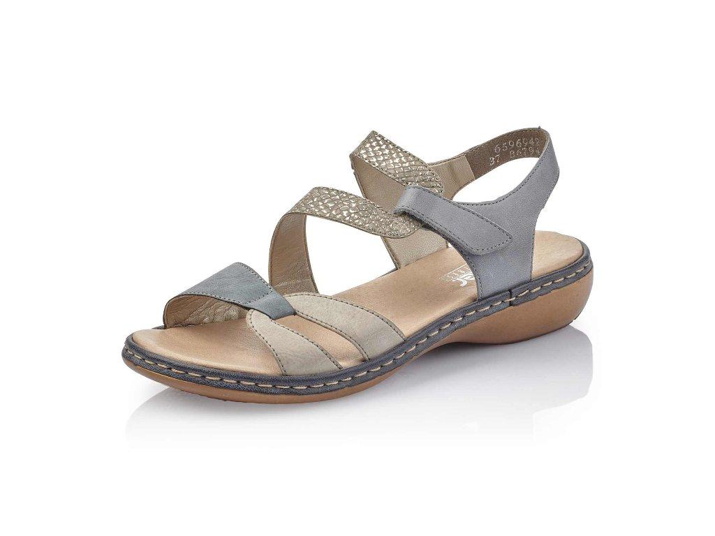 Dámská obuv Rieker 65969-42 (Barva Modrá, Velikost 42)
