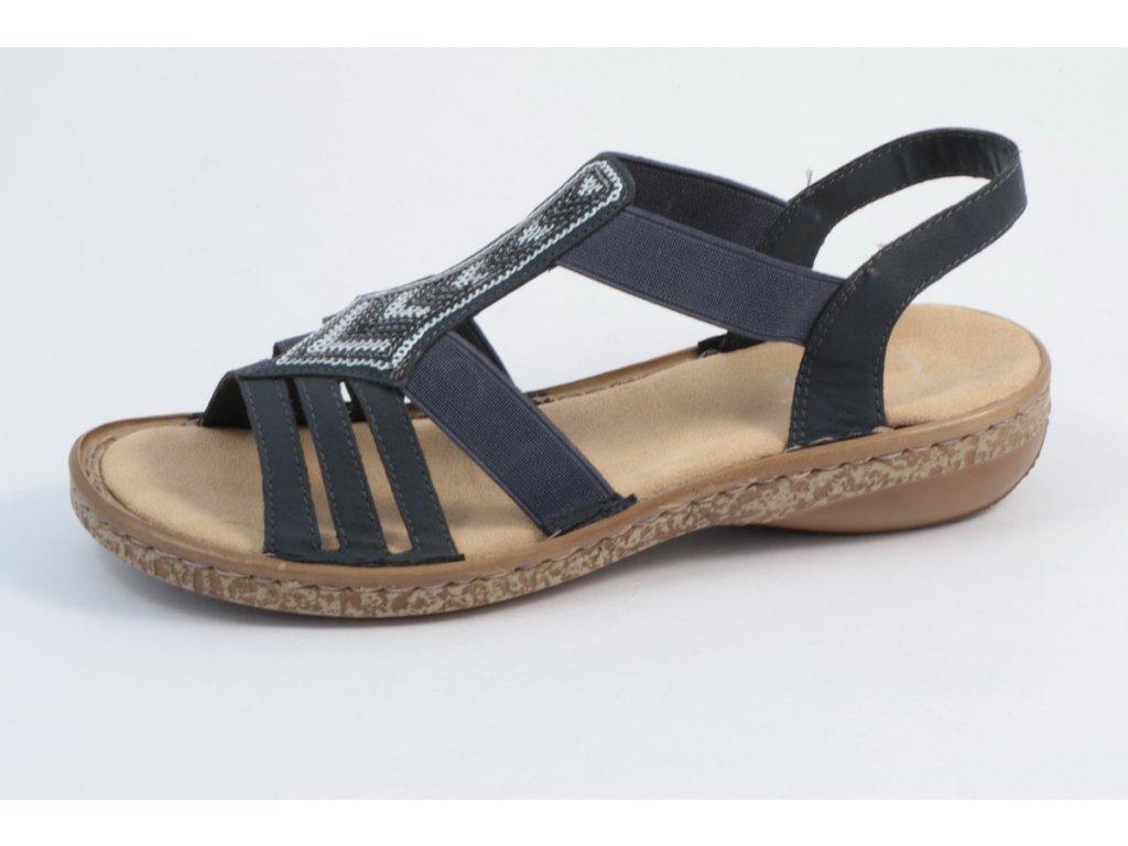 Dámská obuv Rieker 62821-14 (Barva Modrá, Velikost 42)