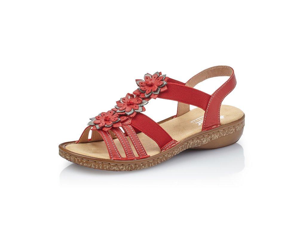 Dámská obuv Rieker 62858-33 (Barva červená, Velikost 41)