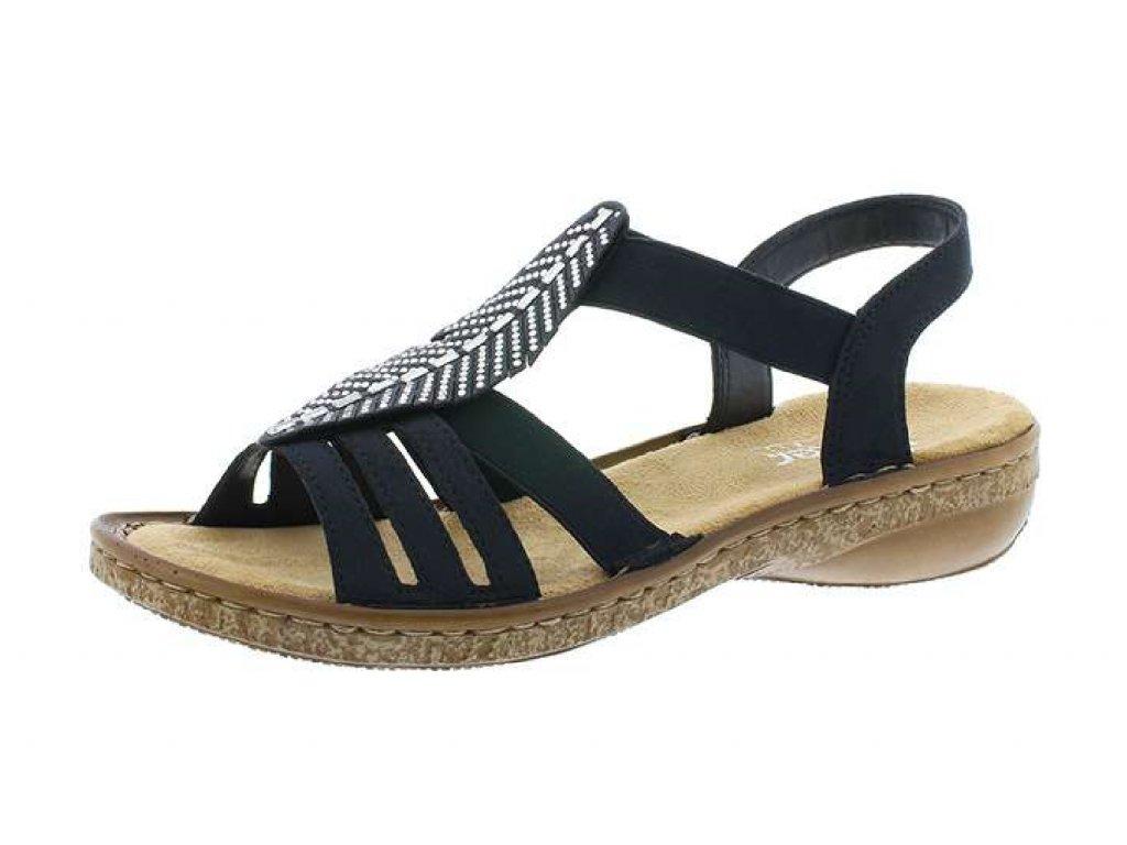 Dámská obuv Rieker 628G6-14 (Barva Modrá, Velikost 41)