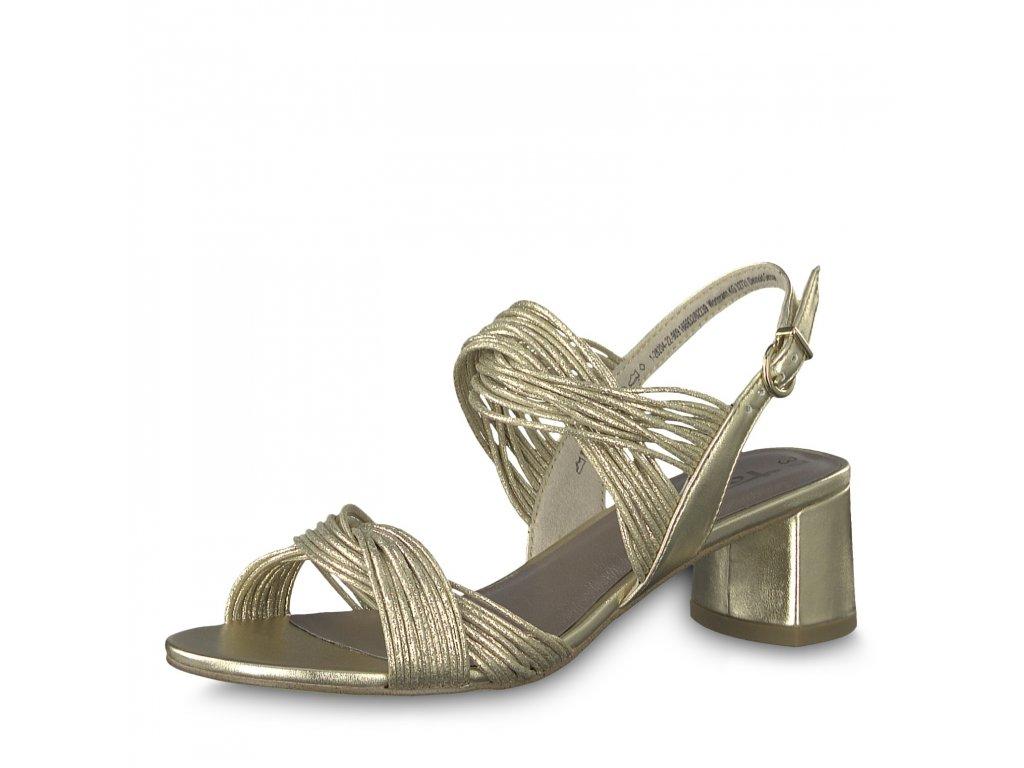 Dámská obuv Tamaris 1-28204/22 (Barva zlatá, Velikost 41)