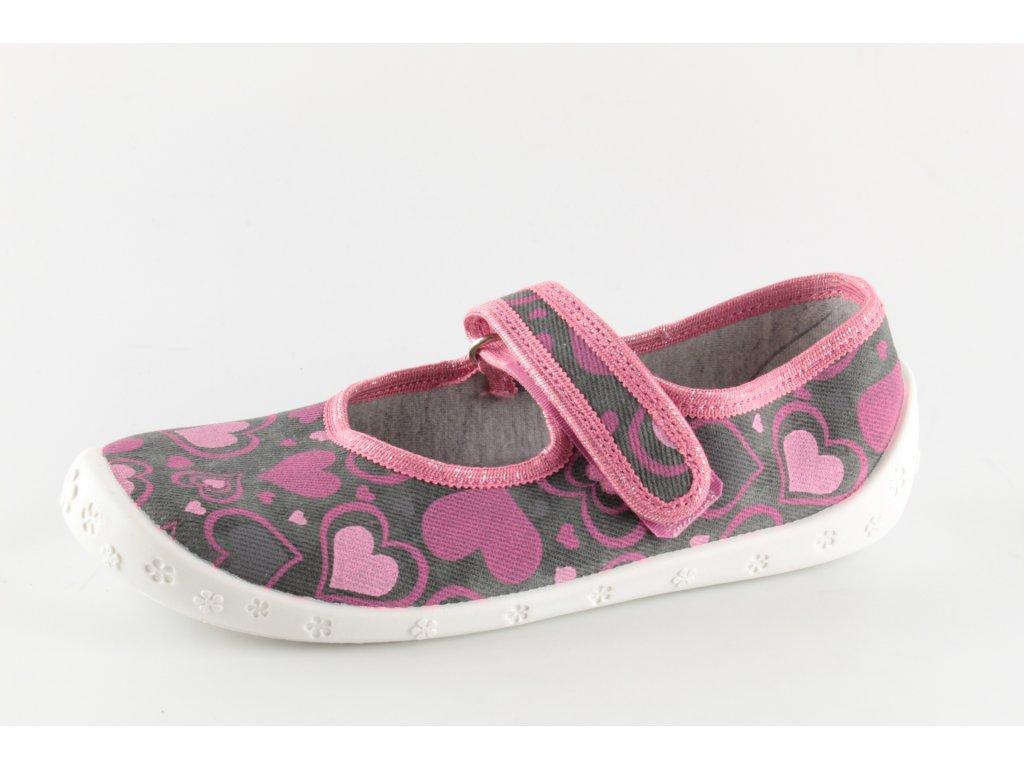Dětská domácí obuv Dorotka D31 (Barva růžová, Velikost 25)