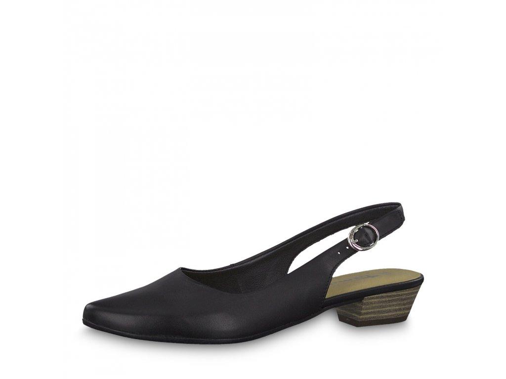 Dámská obuv Tamaris 1-29400/22 kožená černá (Barva černá, Velikost 40)