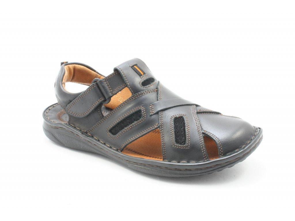 Pánská obuv RIKO 523 kožené (Barva hnědá, Velikost 45)