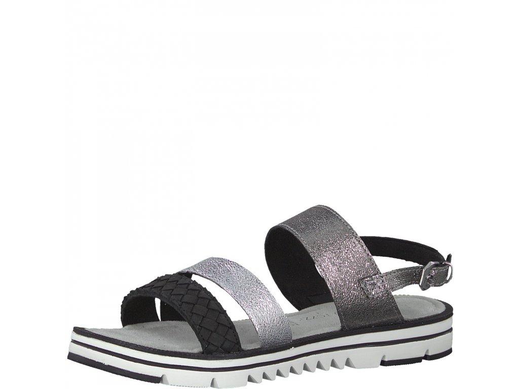 Dámská obuv Marco Tozzi 2-28619/22 (Barva stříbrná, Velikost 42)