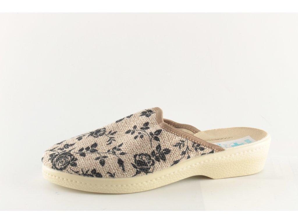 Dámské pantofle ADANEX 23874 (Barva hnědá, Velikost 42)