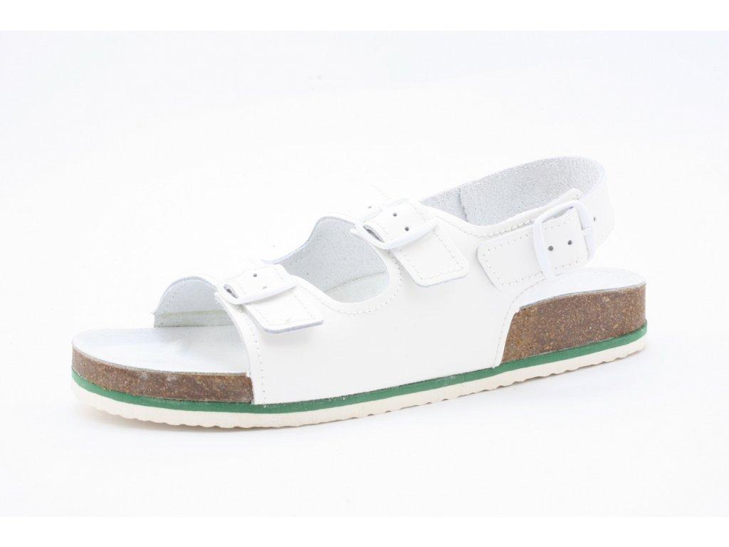 Pánský Fusbet sandál NADMĚR dvoupásek 217001/N (Barva béžová, Velikost 48)