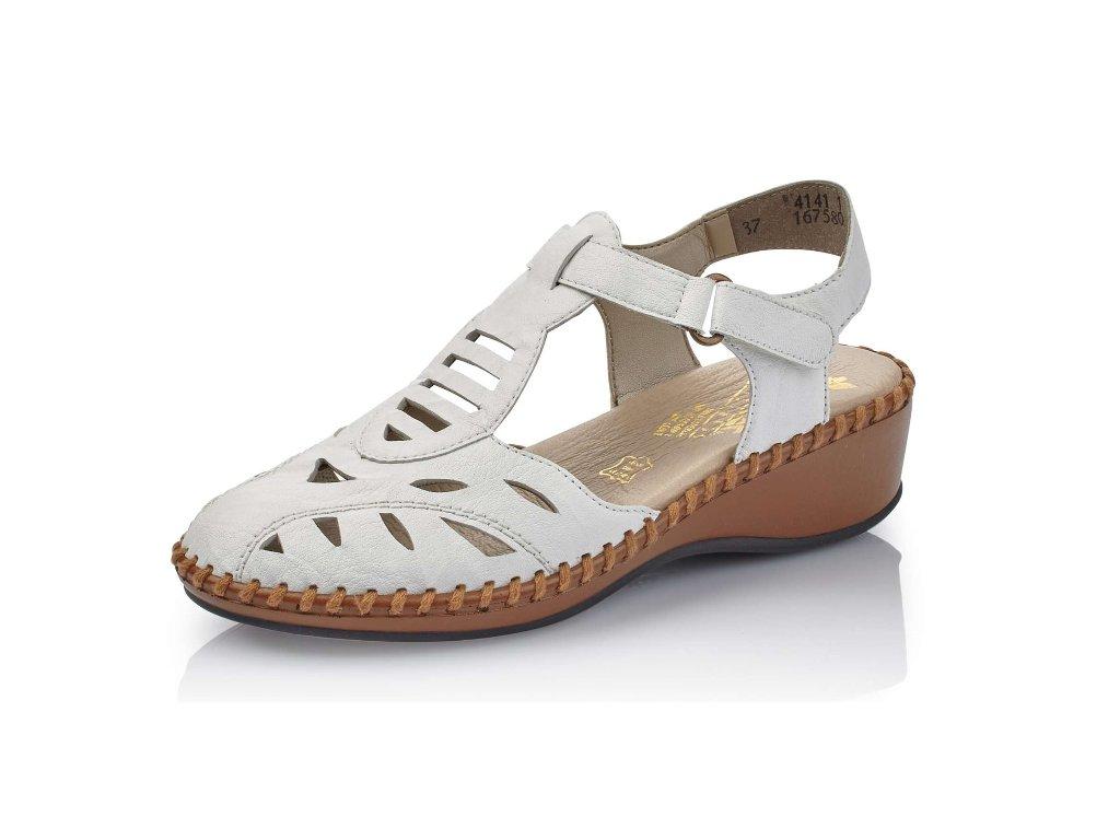 Dámská obuv Rieker N1675-80 (Barva Bílá, Velikost 41)