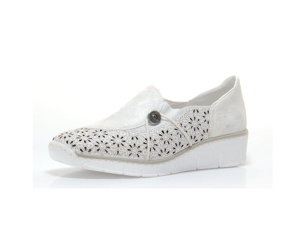 Dámská obuv Rieker 537N8-80 (Barva Bílá, Velikost 42)