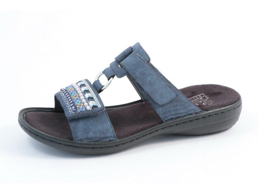 Dámské boty Rieker 608P6-14 (Barva Modrá, Velikost 39)