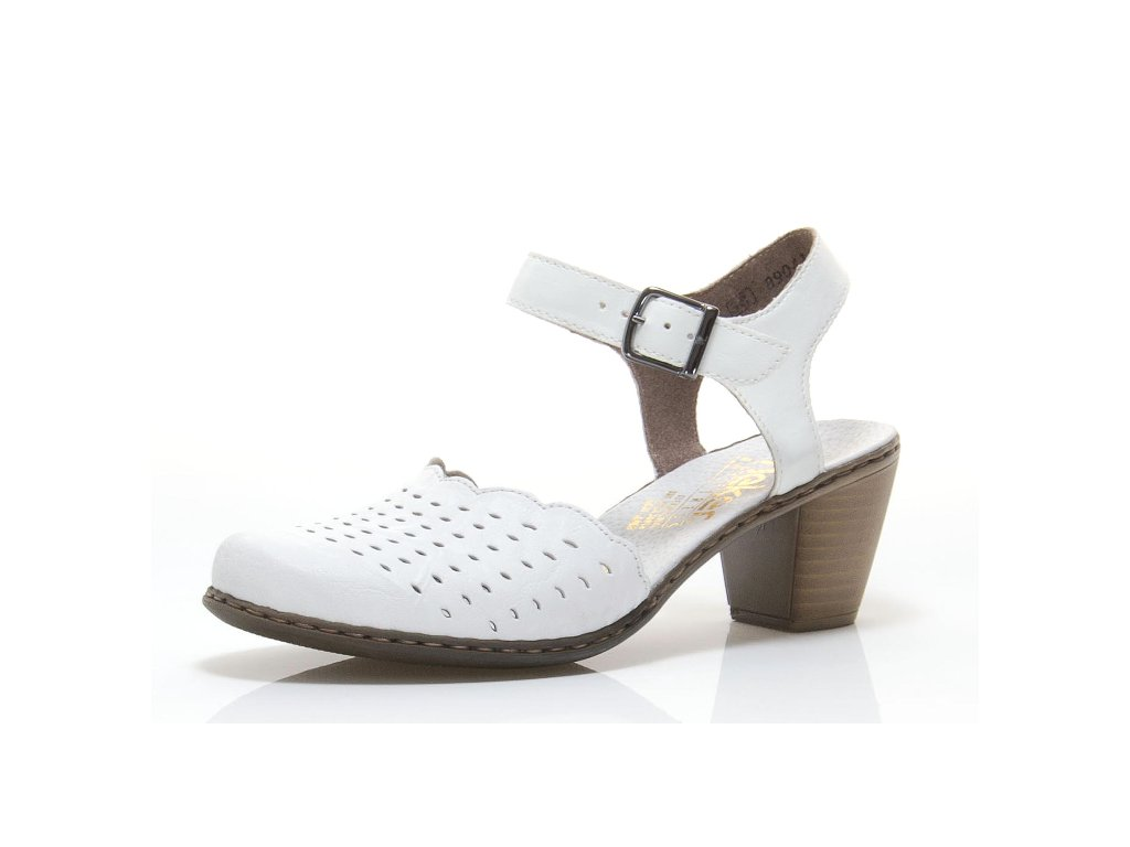 Dámská obuv Rieker 40989-80 (Barva Bílá, Velikost 41)