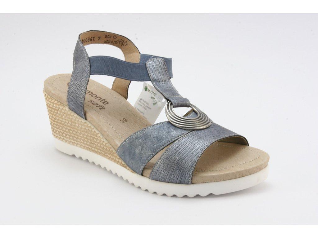 Dámské sandály REMONTE D3451-14 (Barva Modrá, Velikost 41)
