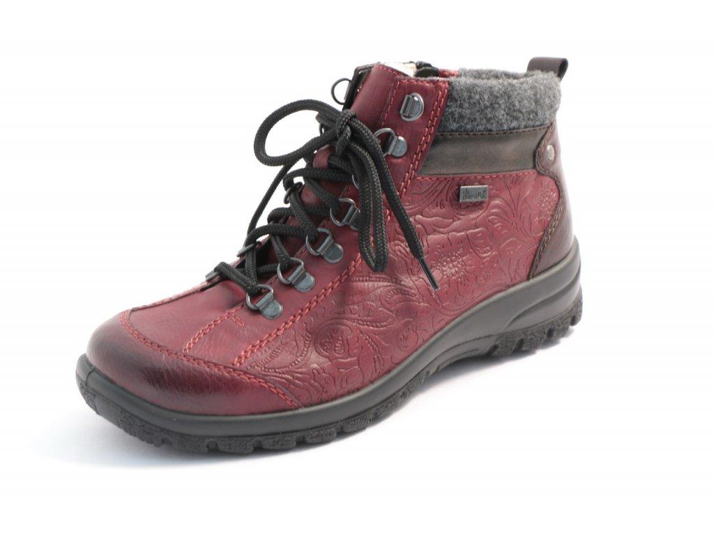 Dámské boty Rieker L7144-35 (Barva červená, Velikost 41)
