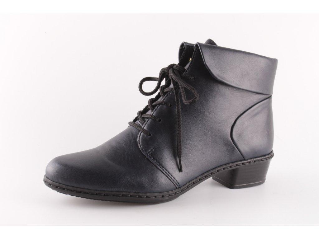Dámské boty Rieker Y0711-14 temně modrá (Barva Modrá, Velikost 42)