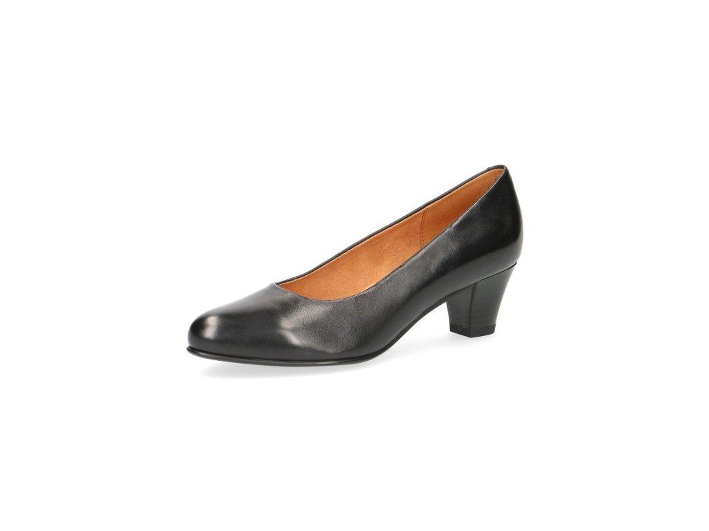 Dámské boty Caprice 9-22415/23 KOŽENÉ (Barva černá, Velikost 41)