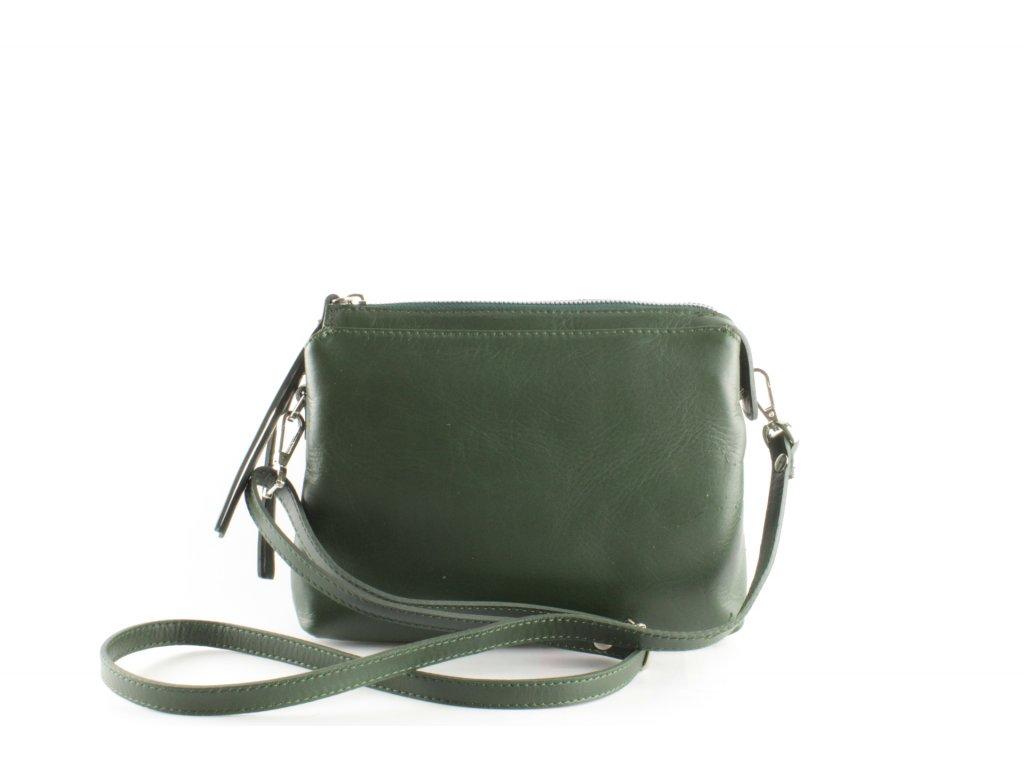 Dámská kabelka KAB F9 K175 Kůže (Barva Zelená)