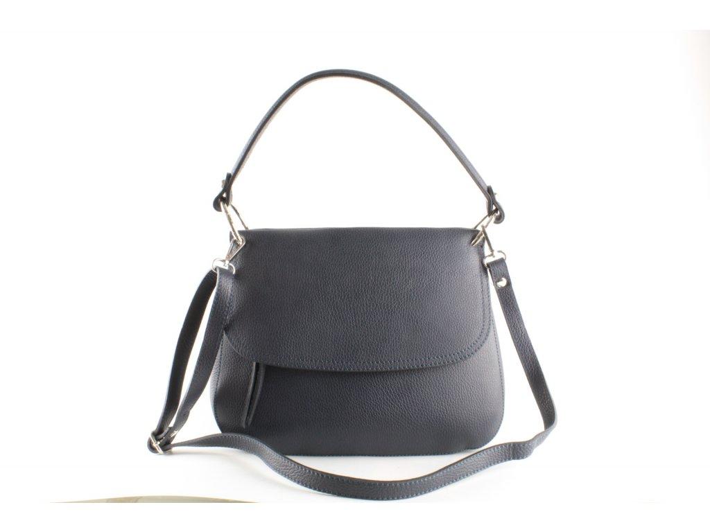 Dámská kabelka KAB F9 K255 Kůže (Barva Modrá)