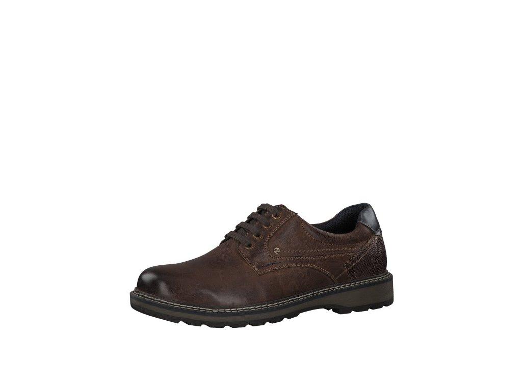 Pánská obuv s.Oliver s pohodlnou kulatou špicí 5-13603/23 (Barva hnědá, Velikost 45)