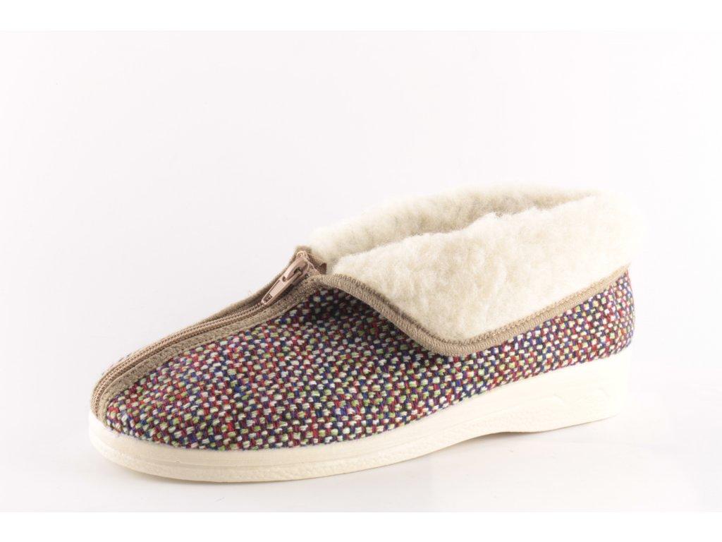 Dámské pantofle Adanex 24148 zateplené (Barva hnědá, Velikost 41)