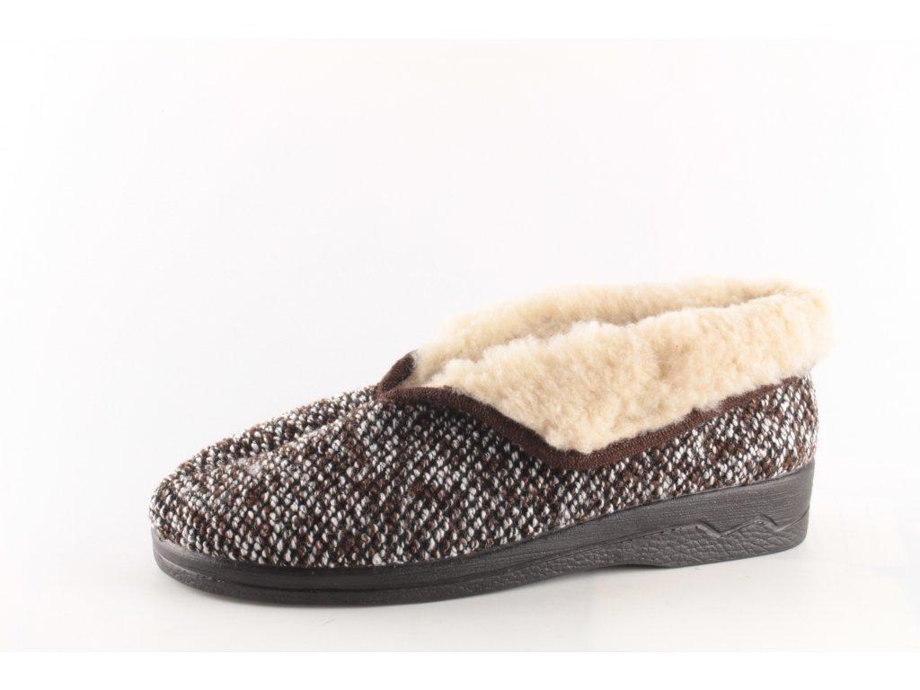 Dámské pantofle Adanex 14681 zateplené (Barva hnědá, Velikost 41)
