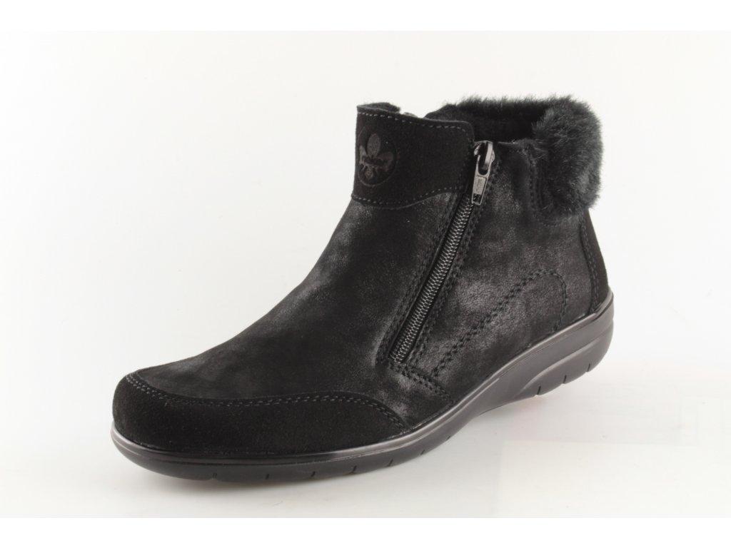 Dámské boty Rieker X0652-00 (Barva černá, Velikost 42)