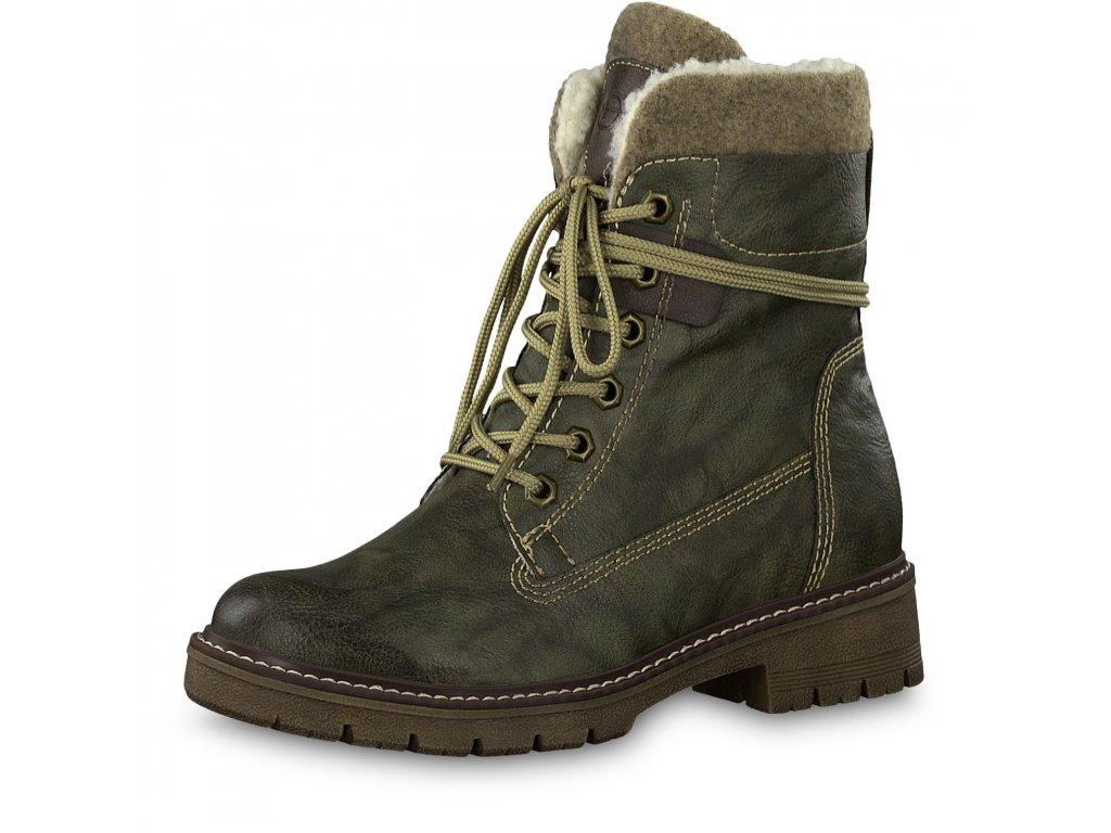 Dámské boty Tamaris 1-26238/23 (Barva Zelená, Velikost 41)